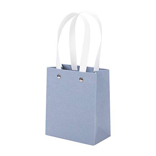 YJZQ 10 Stück Papiertragetaschen Papiertüten mit Henkel Geschenktüten Kraftpapier Geschenktasche Kreative Papierbeutel für Geschenk Papiertaschen Kraftpapiertüten für Partys Geburtstag