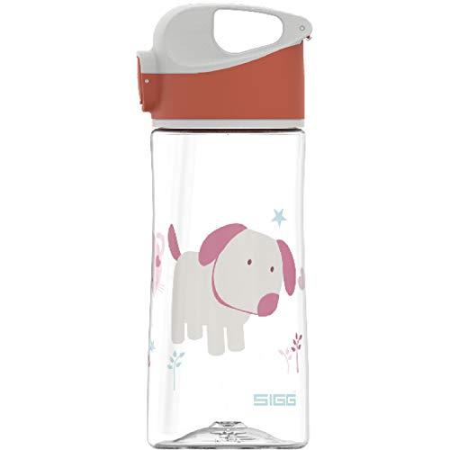 SIGG Miracle Puppy Friend Kinder Trinkflasche (0.45 L), Kinderflasche mit auslaufsicherem Deckel, einhändig bedienbare Wasserflasche aus Tritan