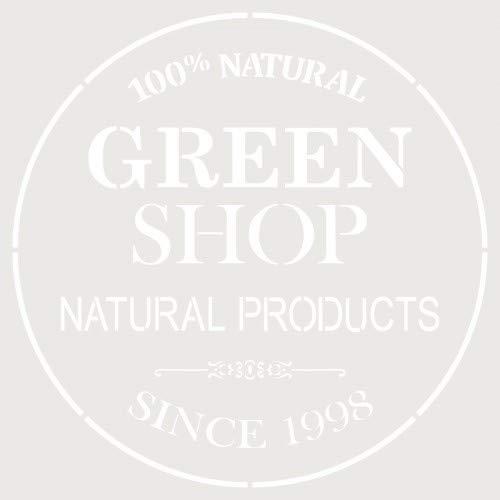 TODO-STENCIL Deco Composition 250 Green Shop Exterior Measurements: 20 x 20 Internal Dimensions Design 18 x 18 cm