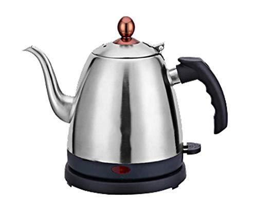 Schwanenhals-Wasserkocher,Home Quiet Boil-Wasserkocher 1,2 l Edelstahl-Wasserkocher Wasserkocher Teekanne mit hoher Kapazität Temperaturregelung Elektrischer Krug Wasserkocher Silikongriff