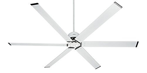 HUNTER 59132 HFC-96 Industrial Indoor / Outdoor Ceiling Fan with Wall Control, 96', Fresh White