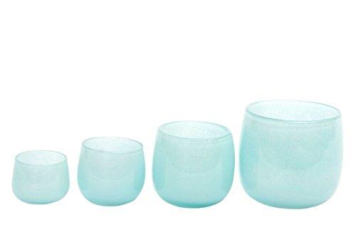 Dutz Vase , Windlicht, Pot H 14 D 16 Farbe pale blue, hellblau
