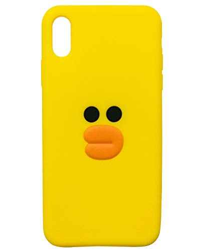 TopFunny Cases for iPhone XR Case Silicone 3D Cute Cartoon Duck Soft TPU Slim Fit Rubber Bumper Protective Gel Cover Shockproof Case Compatible with Apple iPhone XR 6.1' Yellow