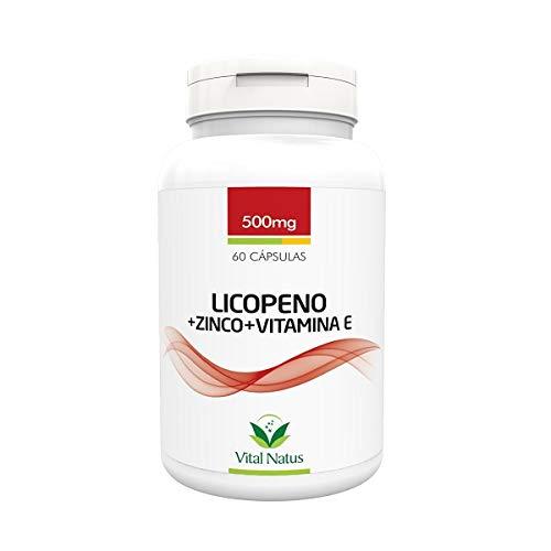 Licopeno + Zinco + Vitamina E - 60 Caps. 500mg Vital Natus