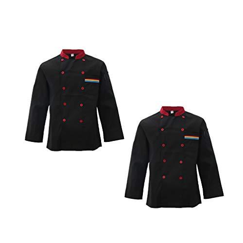 Giacca Cappotto Abbigliamenti Attrezzo da Giardino Domestico Unisex Manica Lunga Uniforme Chef