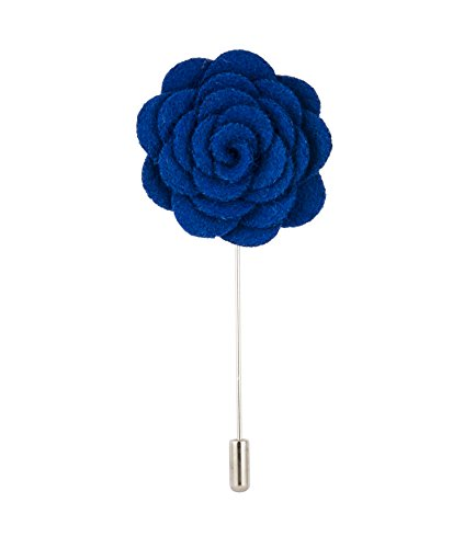 Knighthood Royal Blue Flower Lapel Pin Royal Blue Badge Coat Suit Wedding Gift Party Shirt Collar Accessories Brooch for Men