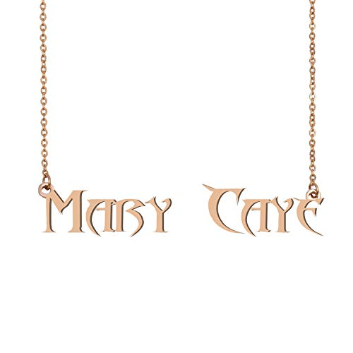 GR859C Personalized Best Friend Name Necklace Unique Jewelry Gifts for her Mary Caye