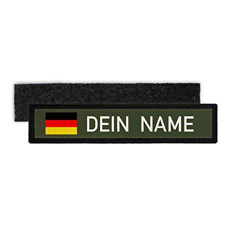 Copytec Namenspatch Deutschland Oliv Name Patch Aufnäher Wunschname Germany Klett#25285