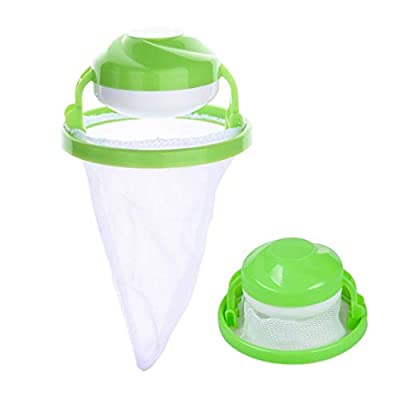 Dryer Max Green Washing Machine Floating Lint Mesh Bag Hair Filter Net Pouch Reusable Washing Machine Lint Traps Lint Catcher by SamGreatWorld