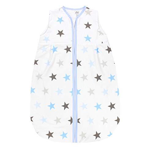 TupTam Baby Sommer Schlafsack Ärmellos Unwattiert, Farbe: Sterne Blau Grau, Größe: 104-110