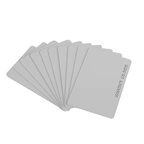 10 Unidades 125 KHz EM4100 / TK4100 RFID ID de proximidad Tarjeta Inteligente 0.85 mm Tarjetas Delgadas para identificación y Control de Acceso