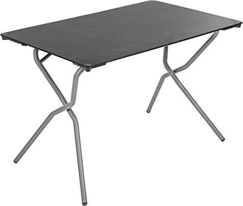 Lafuma Anytime Table de camping Graphite Anthracite Acier Plateau HPL 72,5 x 110 x 68 cm