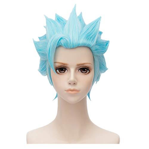 Kadiya Short Blue Cosplay Wig Heat Resistant Full Synthetic Hair (Not Styled)