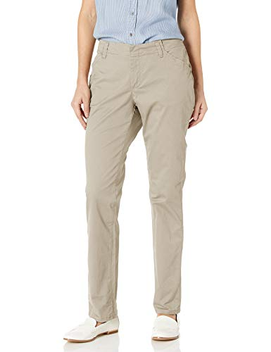 Lee Women's Midrise Fit Essential Chino Pant, Palisade, 16 Short