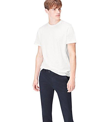 Amazon-Marke: find. T-Shirt Herren Paris-Print und runder Ausschnitt, Weiß (White 002), XL, Label: XL
