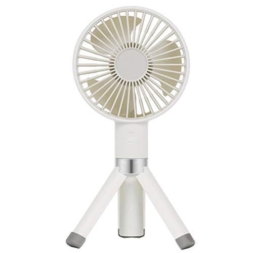 Desktop Statief Draagbare Kleine Ventilator, USB Travel Mini Handheld Fans Met 30 ° Diagonale Cycloon Fan Blade En Gemakkelijk Gewassen Voor Thuiskantoor Travel,White