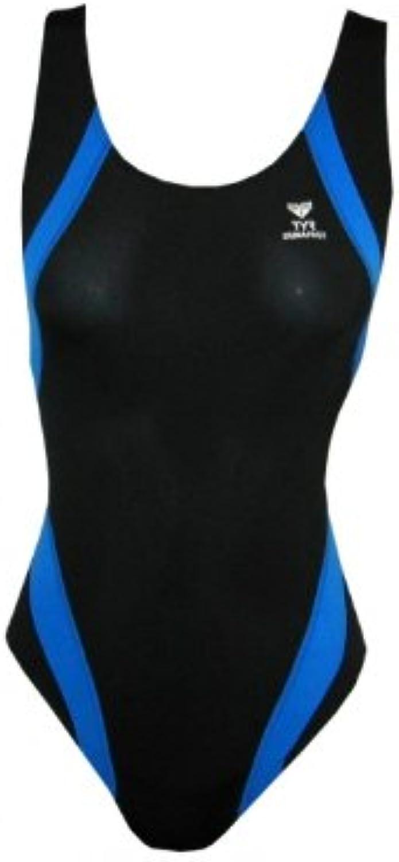 TYR Women's Titan Splice Maxback Swimsuit 34in Black bluee