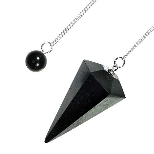 Negro Turmalina Crystal péndul