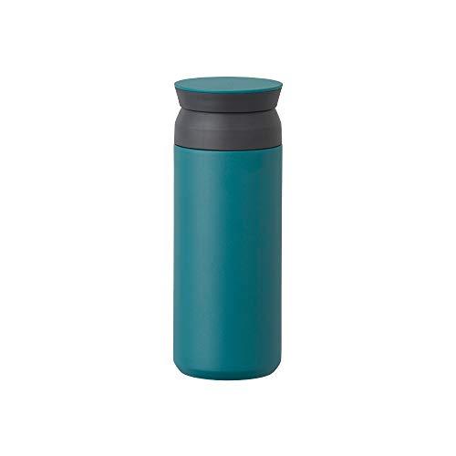 Kinto Reisebecher – Isolierflasche, türkis, 500 ml, doppelwandig und vakuumisoliert, hält Ihr Lieblingsgetränk stundenlang warm oder kalt.