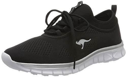 KangaROOS Damen K-Run Neo S Sneaker, Schwarz (Jet Black/Silver 5002), 36 EU