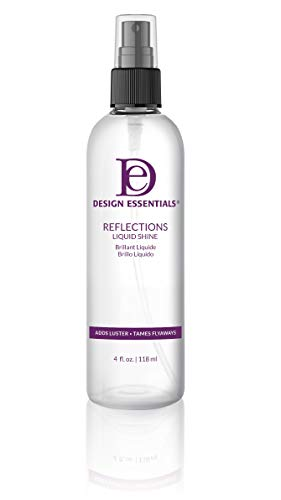 Design Essentials Reflections Liquid Shine Humidity Resistant Hair Polish for a Luminous Oil-Free Lightweight Finish-4oz. (40005)