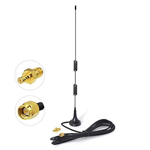Bingfu Dualband 978 MHz 1090 MHz 7dBi Magnetfuß SMA MCX Stecker Antenne für die Luftfahrt Dual Band 978 MHz 1090 MHz ADS-B-Empfänger RTL SDR-Software Definierter Radio-USB-Stick-Dongle-Tuner-Empfänger