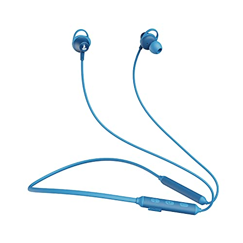 boAt Rockerz 245v2 Wireless Bluetooth V5.0, 8 Hours Playback Time, IPX5 Sweat and Water Resistance, in-Built mic and Voice Assistant(Ocean Blue), One Size