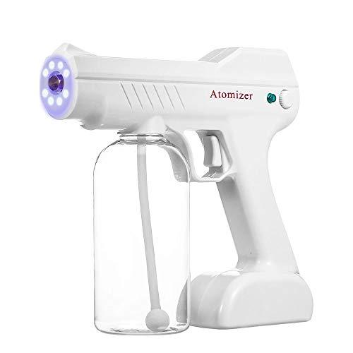 Nano Spray Steam Gun Fogger Machine Disinfectant Mist Gun Handheld Blue Ray Anion Rechargeable Sterilizer, Atomizer Gun, Sanitizing Home, Schools, Day Care, Office, Car Spread Pixie Dust TM