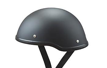 Low Profile Novelty Harley Chopper Motorcycle Half Helmet Skull Cap Flat Matte Black  Large 23  - 23 1/2