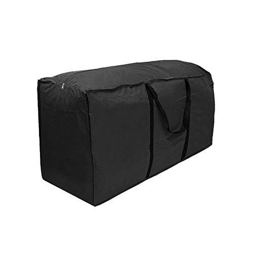 Lembeauty, Aufbewahrungstasche für Gartenmöbel-Polsterauflagen, wasserdicht, leicht, für den Außenbereich, Schwarz, metall, -, Large