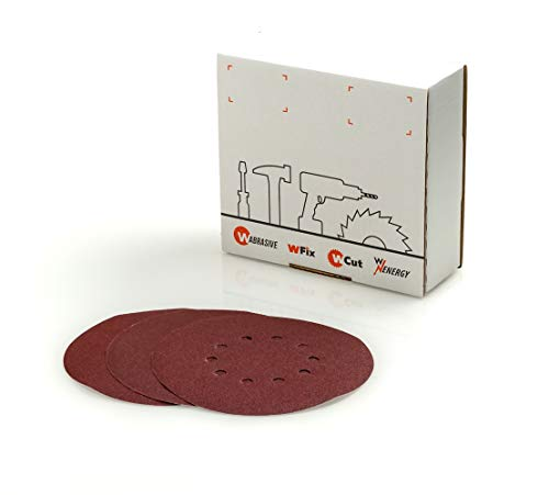 Klett Schleifscheiben 225 mm Ø 10 Stück Körnung 120 K120 von Wabrasive • Schleifscheibe 225 für Matrix Flex Trockenbauschleifer Deckenschleifer