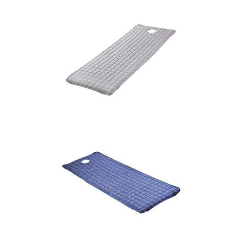 TANGIST 2 tapa de cama de masaje Tratamiento de spa Sofá colchones con agujero gris/azul oscuro