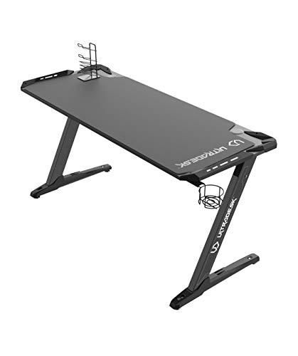 Ultradesk Space XXL Schwarz - Gaming Tisch, Computertisch, großer Schreibtisch mit LED RGB