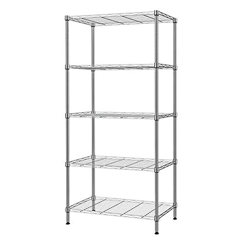 SINGAYE 5 Tier Storage Rack Wire Shelving Unit Storage Shelves Metal for Pantry Closet Kitchen...
