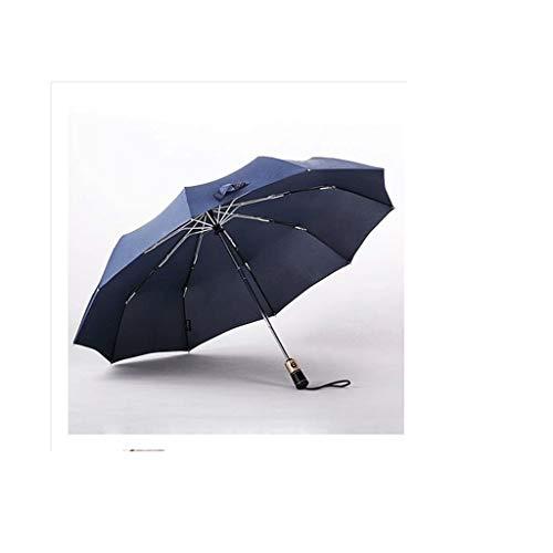 SBSNH A Prueba de Viento I Paraguas de Viaje Resistente al Viento con Teflon I Paraguas Compacto Ligero I Mini Umbrella Paraguas Plegable portátil for Hombres de Mujeres (Negro , Azul)