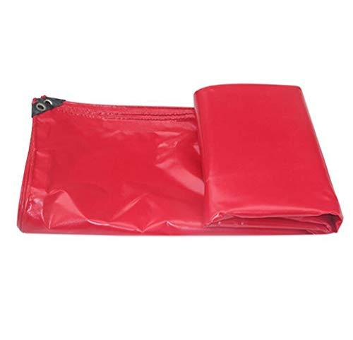 WJS Couverture imperméable rouge de feuille de bâche de protection du soleil avec la couverture en bois de voitures de jardin d'oeillets (Size : 2x2m)