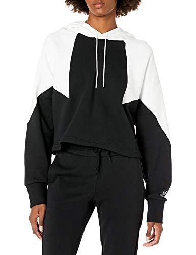 adidas Originals Damen Large Logo Crop Hoodie - Schwarz - X-Large