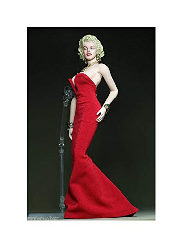 ZSMD 1/6 Female Marilyn Monroe Red Dress Skirt Clothes F 12