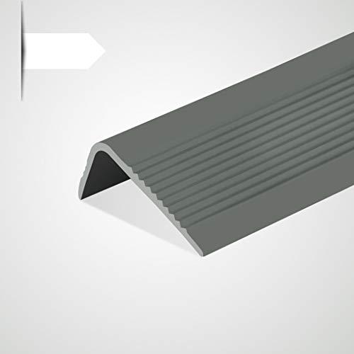 Perfil de borde de escalera Antideslizante Perfil para cantos Escaleras tiras antideslizantes escalones de jardín de infantes borde borde en forma de L perla pegada (2,5 * 5 * 100 cm) Paquete de 5
