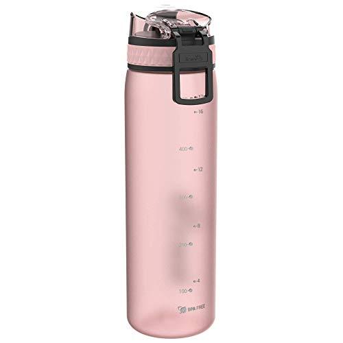 Ion8 Leak Proof Slim Water Bottle, BPA Free, 600ml, Rose