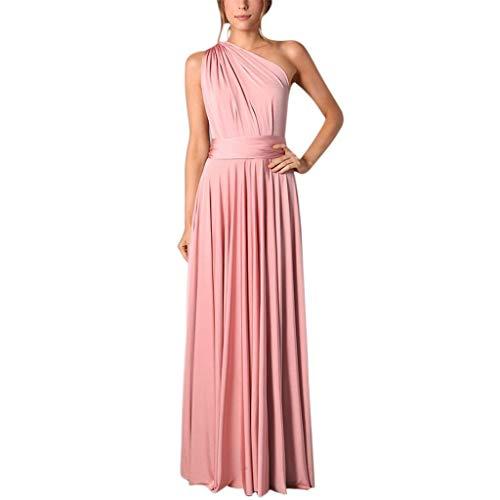 URIBAKY Damen Ärmellos Solide Abendkleid Urlaub Beach Party Langes Kleid