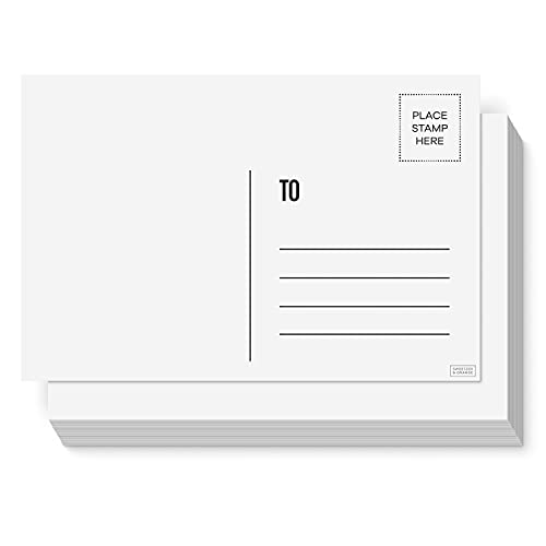 Sweetzer & Orange Blank Postcards for Mailing. 60 White 4x6 Blank Post...