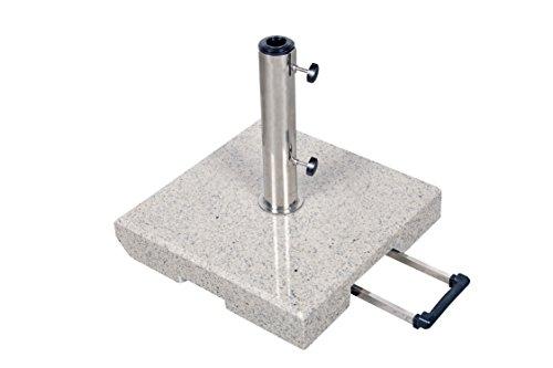 Derby Doppler 50 kg Granit Schirmständer mit Rollen und Trolleyfunktion
