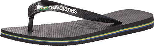 Havaianas Herren Brazil Logo Flipflop, schwarz, 43/44 EU