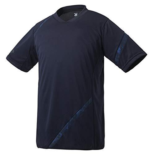 デサント(DESCENTE) 野球 ベースボールシャツ 半袖シャツ ネオライトシャツ Sネイビー L DB123