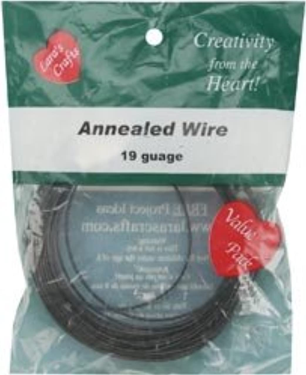 Bulk Buy: The New Image Group Dark Annealed Wire 19 Gauge 50in. Coil LKWIRE (6-Pack)