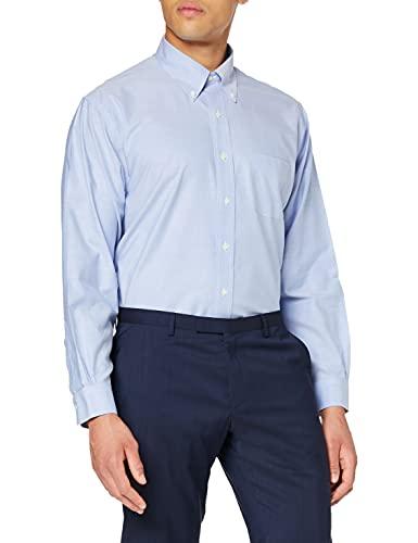 Brooks Brothers Dress Oxford Non-Iron Botton Down Regent Camicia, Blu (Blue 400), 41 (Collo in. 16 Manica in. 35) Uomo
