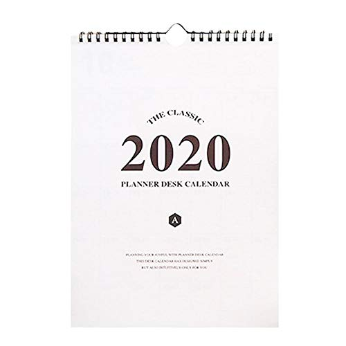 Melo-bell Calendar 2020 Monthly Large Wall Hanging Academic Calendar 8.3×12.6 Inch, Perfect for Planning and Organizing in Home or Office