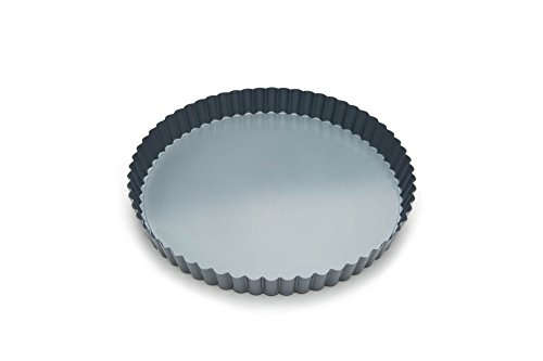 Fox Run Removable Bottom Non-Stick Tart and Quiche Pan, 9-Inch Diameter,Loose Bottom Quiche Pan - 9-inch