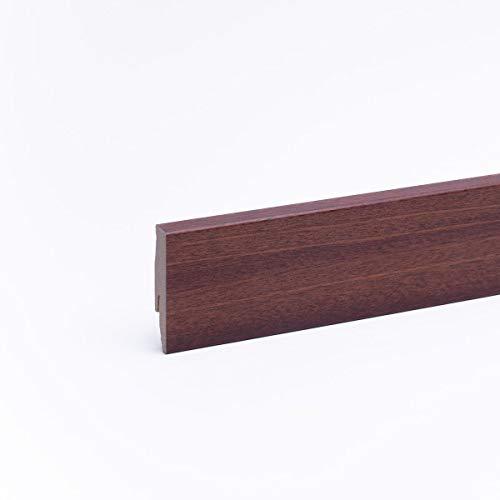 Sockelleiste - Fußleiste 60 x 20 x 2.600mm Dekor Merbau